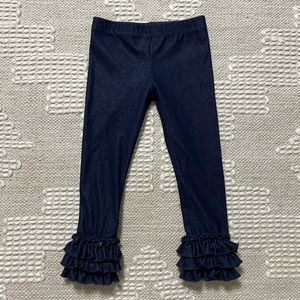 Toddler Ruffle Bottom Southern Style Jeans Size 3